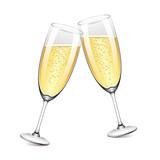 Two champagne glasses vector illustration