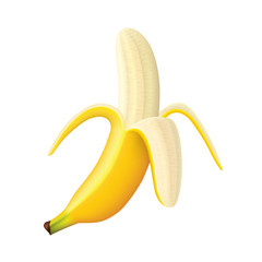 Ripe banana vector illustration