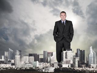 uomo d'affari in città