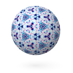 Decorative Ball with a Pattern on a white background