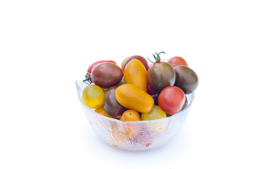 Assorted cherry tomatoes.