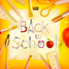 School season invitation template. EPS 10