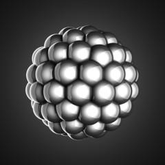 A single atom scientific illustration