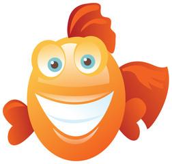 Funny happy fish