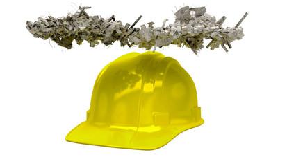 Sicurezza sul lavoro, antinfortunistica, casco, elmetto