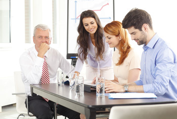 Business people at meeting