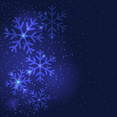 Christmas snowflakes greeting background