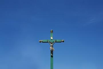 Jesus Christ with blue sky