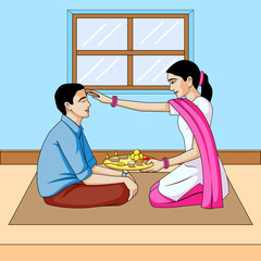 Bhai dooj, brother and sister festival India