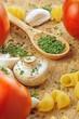 Garlic Parsley Mushroom Toomato Pasta Recipes