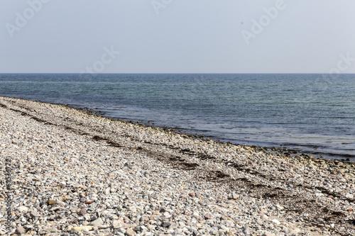 canvas print picture Menschenleerer Strand an der Ostsee in Schleswig-Holstein,Deutsc