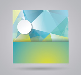 Bright summer card with abstract geometric background for use in