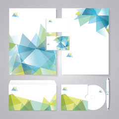 Template for Business artworks. Bio style. Vector Illustration.