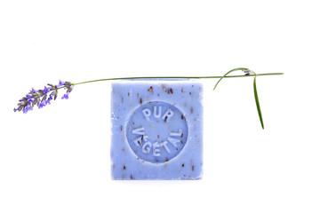 Body care.Lavender Vegetal soap. Alternative therapy.