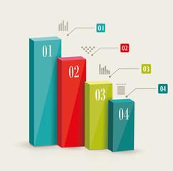 Modern infographics set. Diagram and Time Line design.