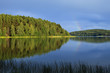 Kashubian lake in the afternoon sun