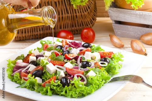 Aluminium Salade Fresh Greek salad