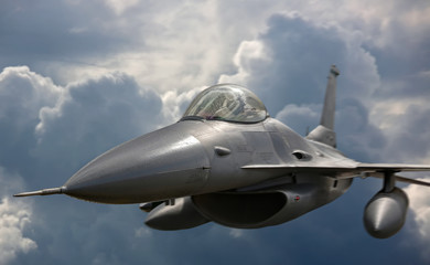Flying jet aircraft an mission