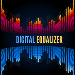 Abstract music equalizer.
