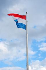 Luxemburg Flagge im Wind