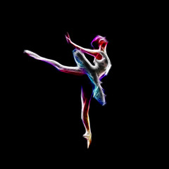 Ballerina dance concept