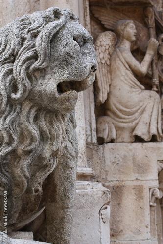 canvas print picture Leone stiloforo Cattedrale di Altamura