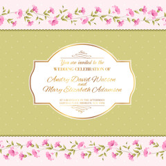 Luxurious invitation card.