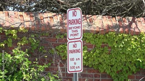 Постер, плакат: Parking Signs Warnings Traffic Laws, холст на подрамнике