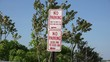 Постер, плакат: Parking Signs Warnings Traffic Laws