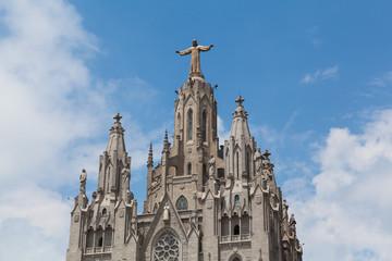 Statue of Christ on Mount Tibidabo, Barcelona