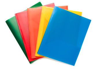 Multicolored Document Folders on White