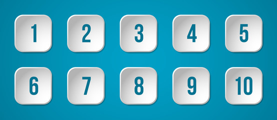 Buttons with numbers