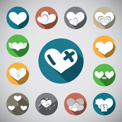 love heart spot icon