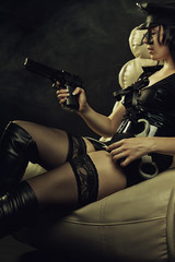 Seductive police woman