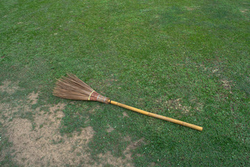 Broom with lawn