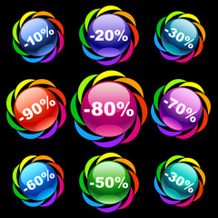 Colorful discount labels 1
