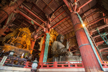 NARA, JAPAN - MARCH 12, 2012: Todaiji temple (location of Great