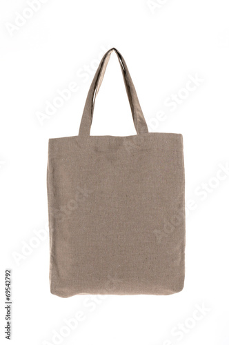 shopping bag made with woven fabric - 69542792