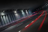 Fototapety Night traffic in tunnel
