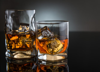 Two glasses with whisky