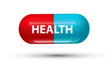 health pill 3d illustration