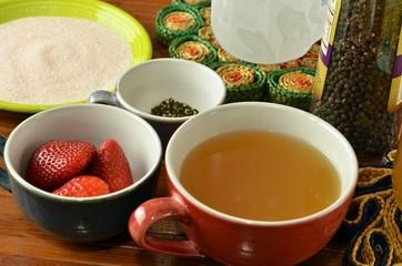 Sweetened Fruit Vinegar Drinking Shrub Ingredients