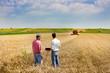 Leinwanddruck Bild - Business people on wheat field