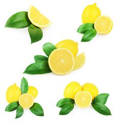 Lemon isolated on white