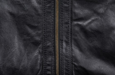 black leather background closeup