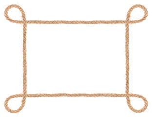rope frame isolated