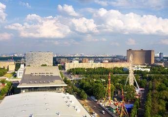 Big city, top view