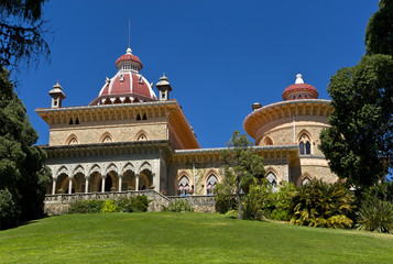 Palace of Monserrate in the village of Sintra, Lisbon, Portugal.