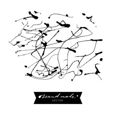 Abstract background. Design element. Hand drawn, drip painting.