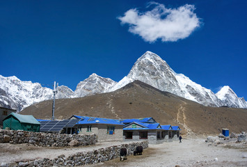 Gorak Shep village and Kala Patthar , Nepal